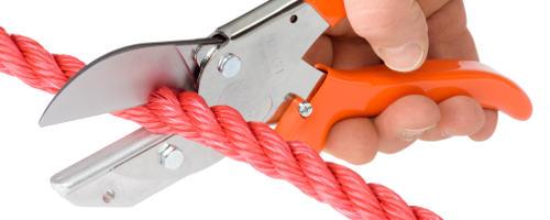 Nożyce uniwersalne do cięcia tworzywa,  drewna,  gumy